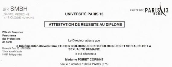 sexologue diplômée en sexualité humaine